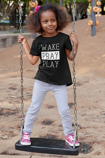 Wake Pray Play - Children's Tee