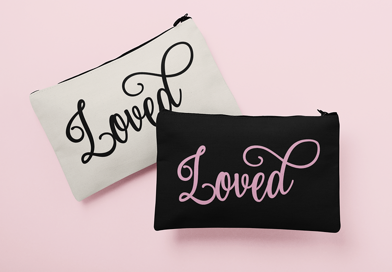 Loved - Canvas - Carry All Pouch