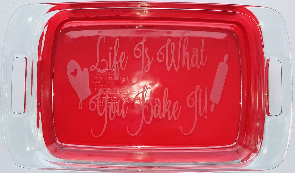 Personalized (Glass Etched) Pyrex Bakeware/Casserole Dish