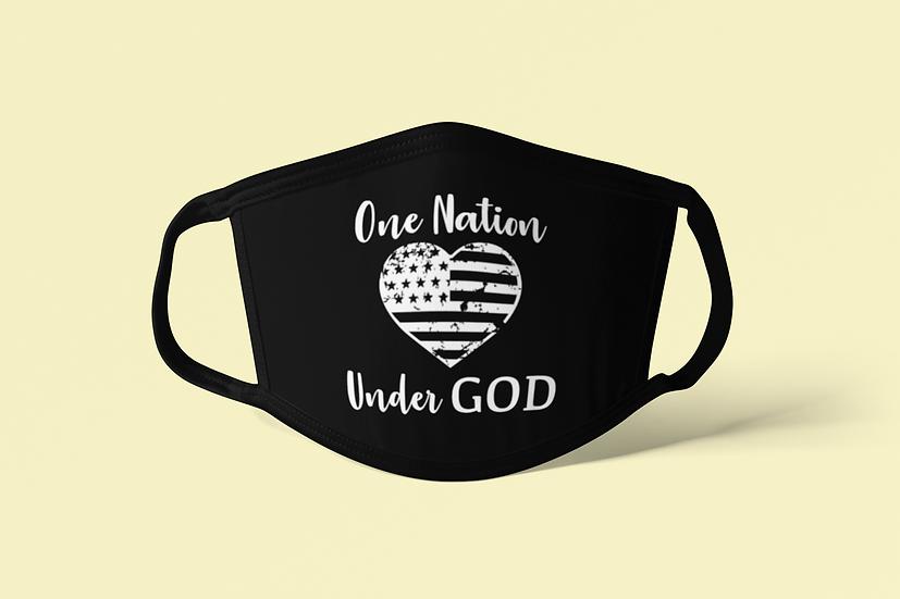 One Nation Under God - Face Mask