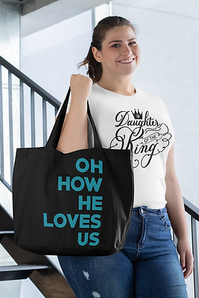 Oh How He Loves Us Tote Bag
