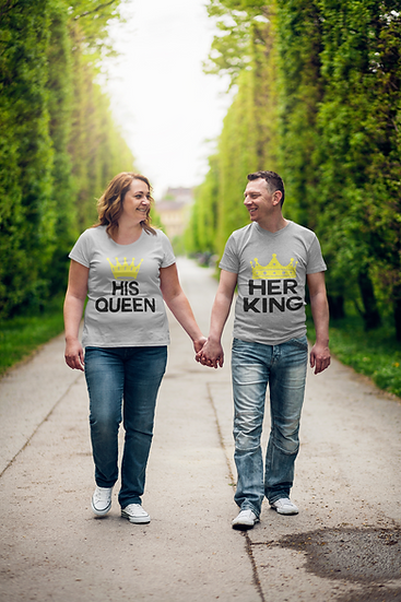 Her KING & His QUEEN T-shirts