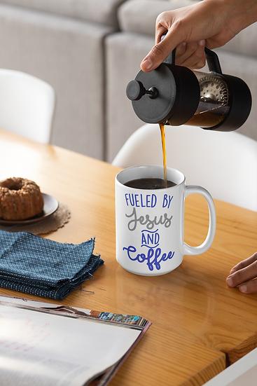 Fueled By Jesus And Coffee - Mug