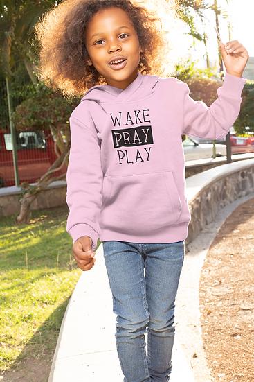 Wake Pray Play - Children's Hoodie