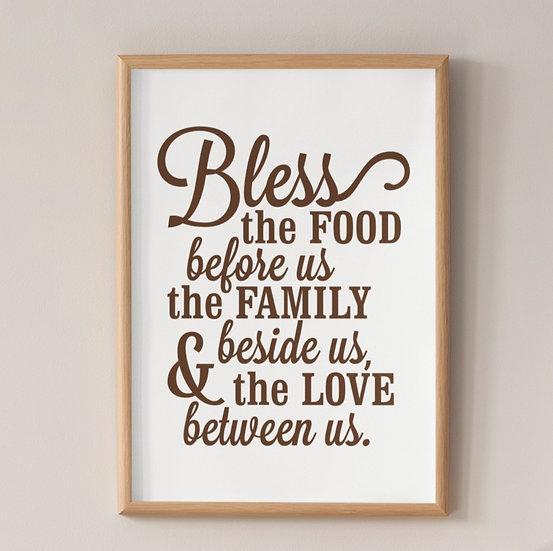 Mealtime Blessing - Framed Inspiration
