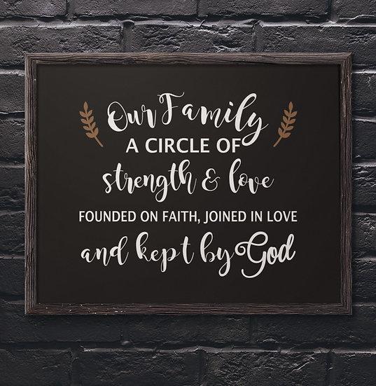 Our Family Circle - Kept By God - Framed Inspiration