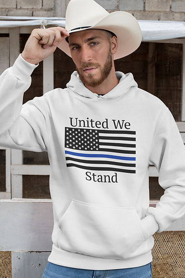 United We Stand/Blue Line - Hoodie