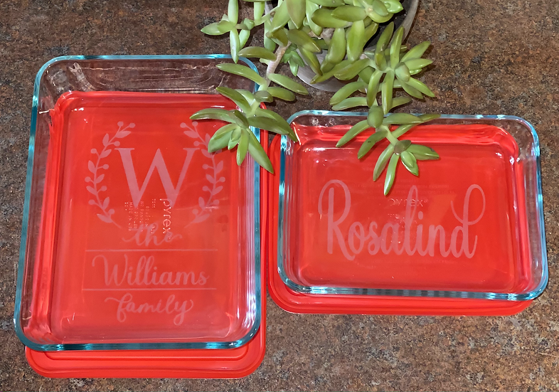 Personalized (Glass Etched) Pyrex Storage Dish