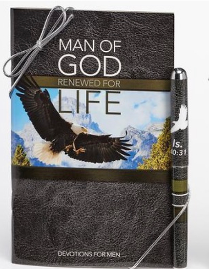 Man of God, Pen & Softcover Devotion Book Gift Set