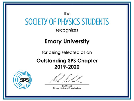 Emory University Physics Students Win National Recognition! Congratulations SPS!