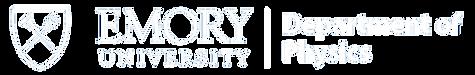 Emory Physics Logo - Horizontal - White.
