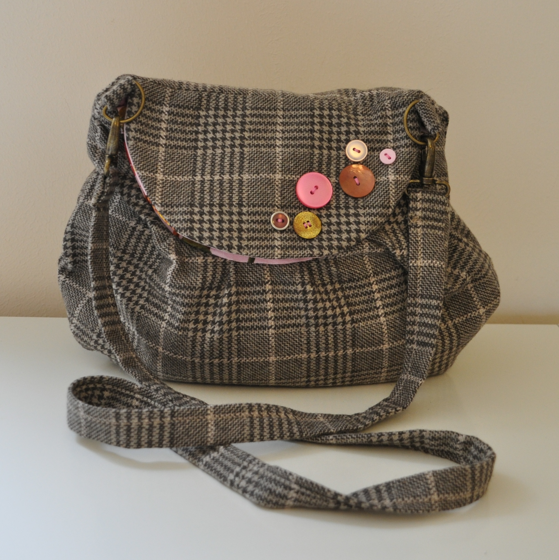 Tweed Cross Body Bag