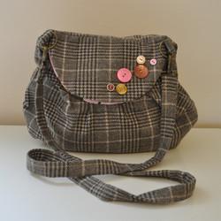 Tweed Cross Body Bag