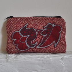Wool Embroidered Flower Purse