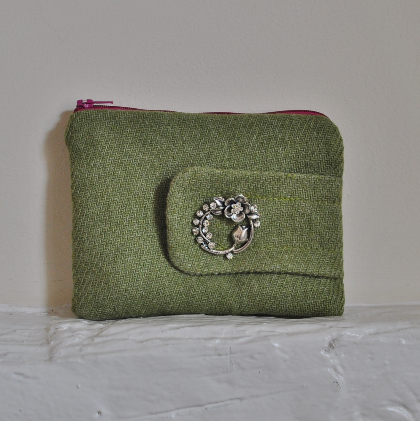 Wool Brooch Purse