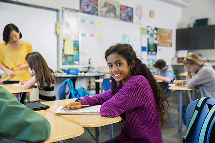 Pige i klasseværelset