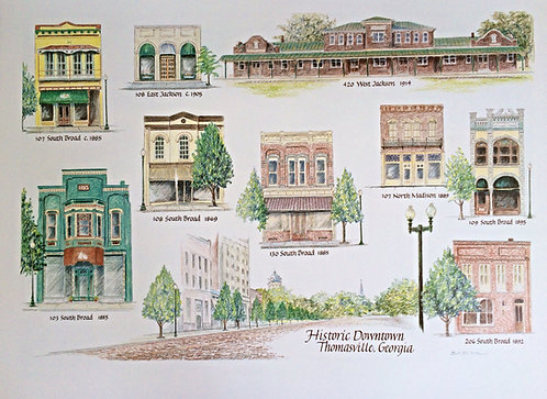 Historic Downtown Thomasville Print