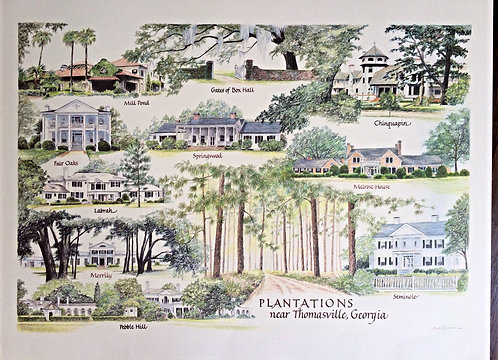 Plantations of Thomas County Print