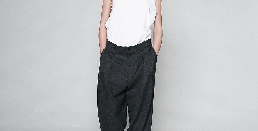 washable wool wide pants