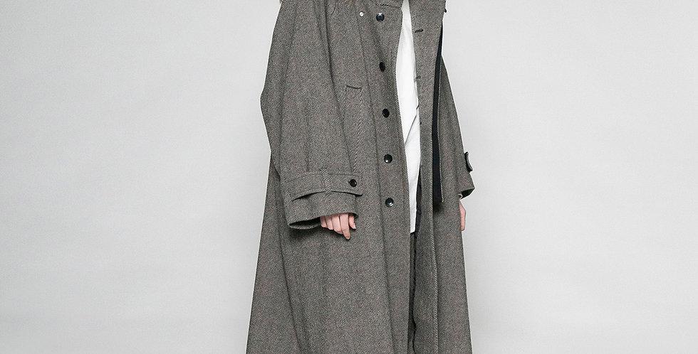 tumbler tweed long coat