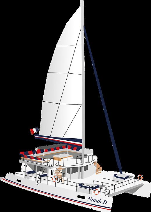 Catamaran Ninah II AMC CAPE GRACE