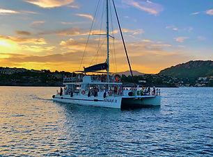 Soirée dîner en mer sur un catamaran