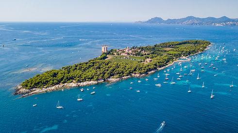 Les îles de Lérins de Cannes dans les Alpes Maritimes