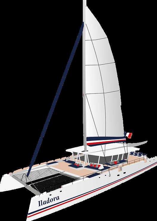 catamaran bateau voile Iladora AMC CAPE GRACE