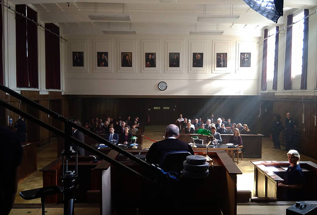 New York Courtroom Set.