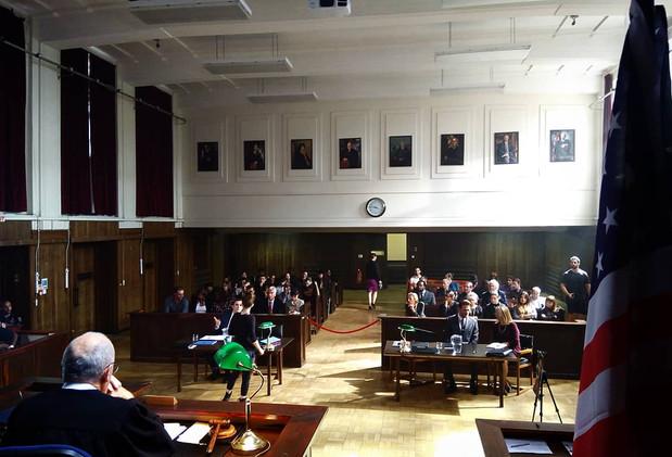 New York Courtroom Set.