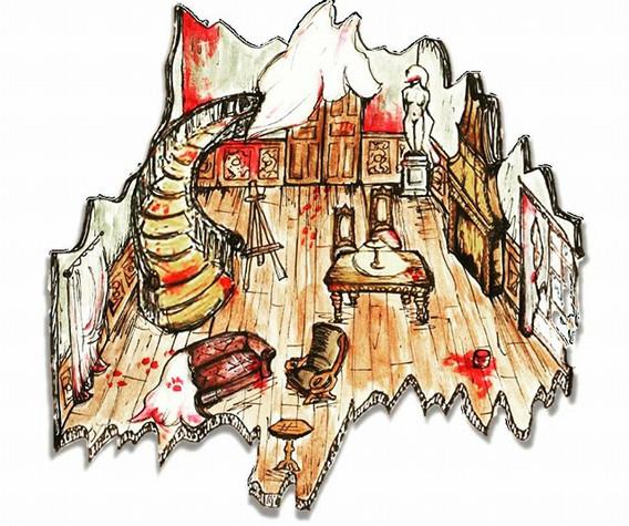 Act 1, Lulu's Berlin, Illustration.