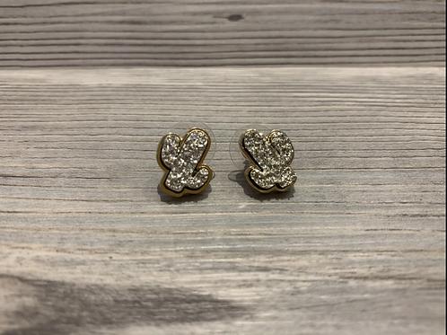 Druzy Cactus Earrings