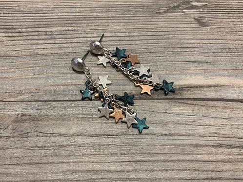 Stars Cluster Dangle Earring