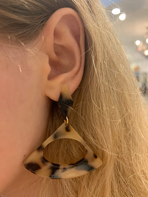 Open Triangle Celluloid Earring