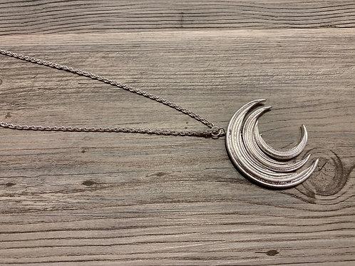 Long Moon Pendant Necklace