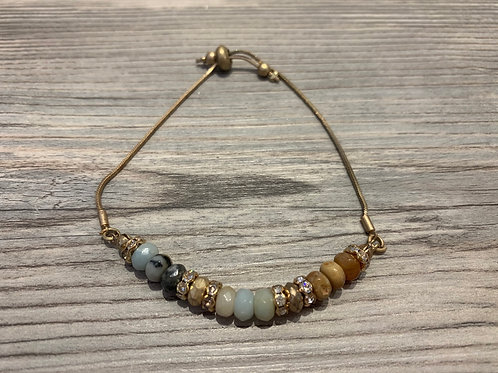 Semi Precious Pull Friendship Bracelet