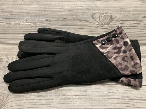 Black Leopard Gloves