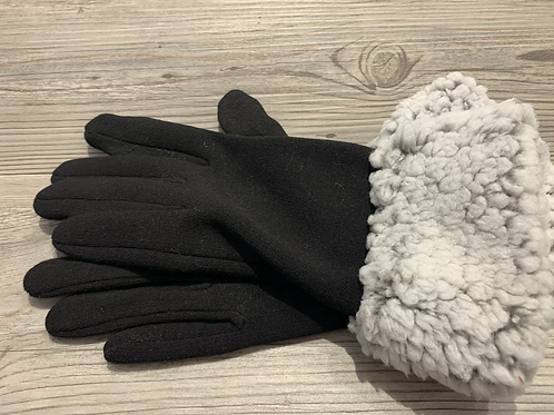 Sherpa Lined Black Gloves