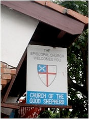 Good Shepherd sign/logo street sign