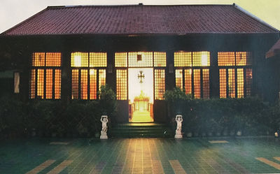 Good Shepherd church at dusk