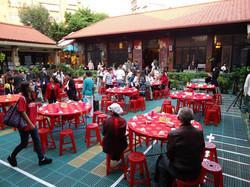 Church courtyard lunch