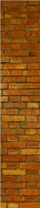 Original brick wall of the church 1965
