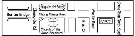Good Shepherd location map schematic