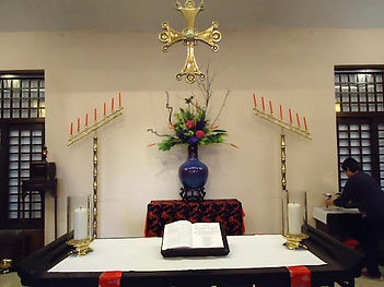 Altar at the Good Shepherd church,