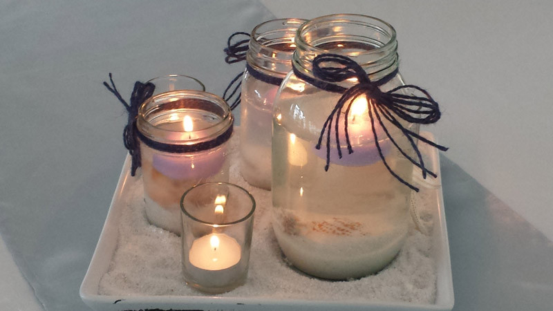 candle table setting