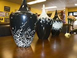 Black Abstract Vases