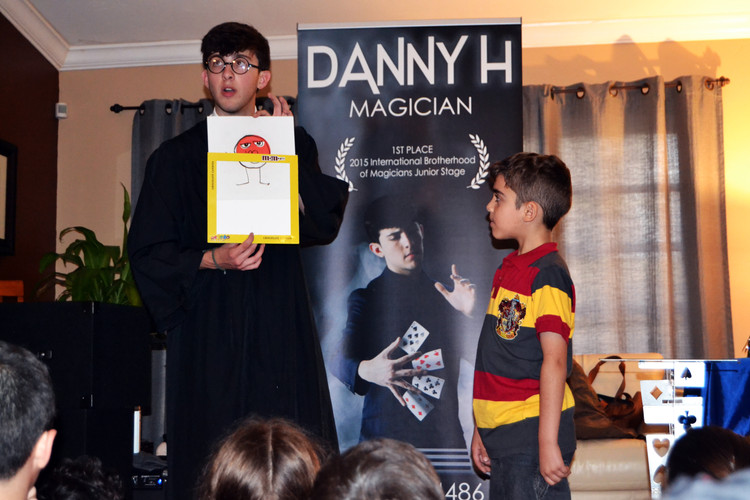 Harry Potter making the magic happen!