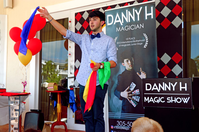 Danny can perform his show in your backyard too!