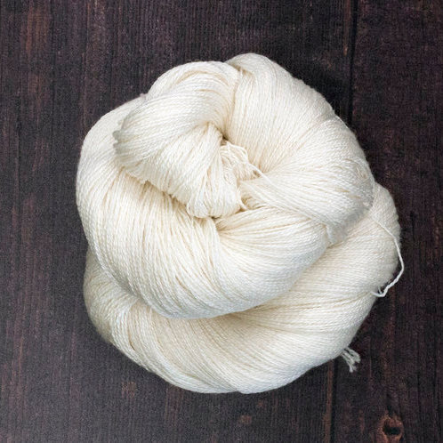 Bluefaced Leicester zijde Lace