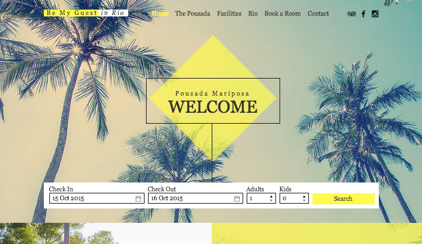 Apartments & Hostels website templates – Rio Pousada